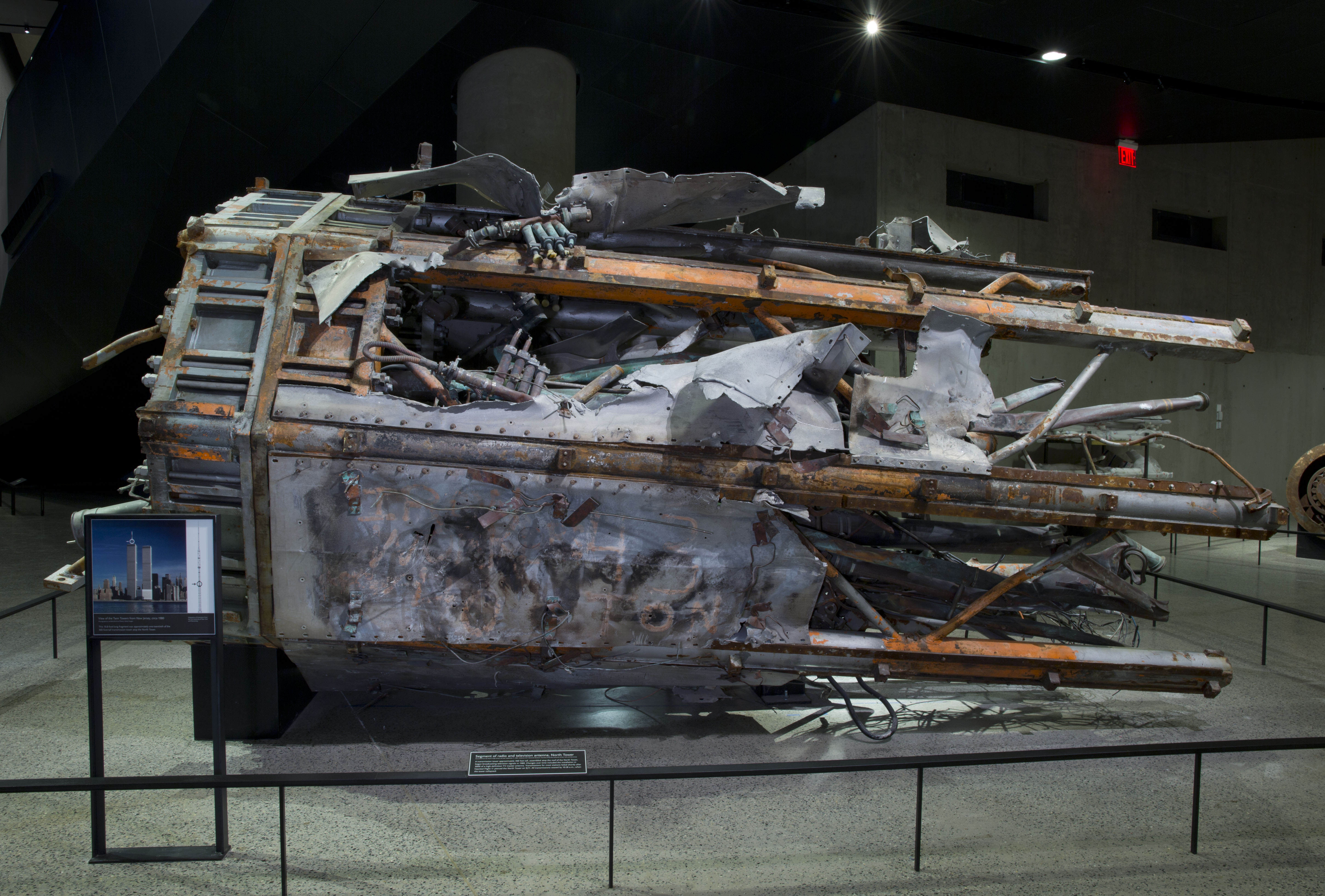 Part of the antenna from the top of the North Tower of the World Trade Center, destroyed on 9/11. - Photo Courtesy of 9/11 Memorial & Museum