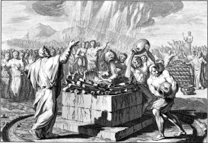 Image courtesy of the Digital Image Archive, Pitts Theology Library, Candler School of Theology, Emory University, Prophet Pearls Ki Tisa, 1 Kings 18:1-39, 1 kings, ahab, Elijah, elijah confronts ahab, fire from heaven, haftarah, identity of obadiah, jezebel, Keith Johnson, nehemia gordon, obadiah, parashah, Parsha, parshas, parshat, Prophet Pearls