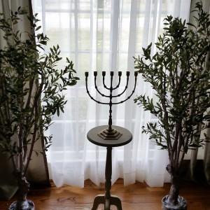 Seven branch menorah.