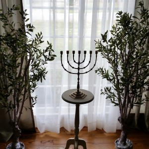 Seven branch menorah.