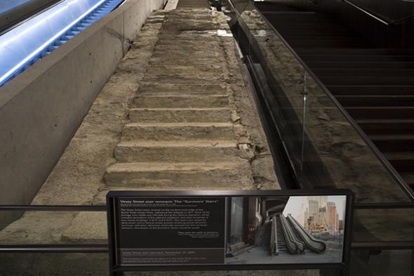 Survivors Stairs - Photo Courtesy of 9/11 Memorial & Museum